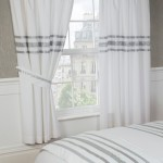 "Glitz White With Silver Trim - 66x72"" Curtains"