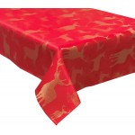"Large Stag Red / Gold 52""x70"" - Xmas Table Cloth Range"