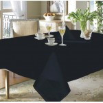 "Wipeable Dobby Check Black 54""x108"" - 100% Cotton Checked Tablecloth"