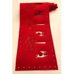 Felt Cut Deer Red Runner - Xmas Table Accessory Range
