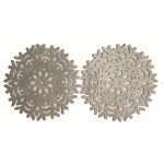 Glitter Snowflake Silver Placemats 2PK - Xmas Table Accessory Range