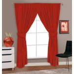 "Autumnal Red - 66x72"" Curtains"