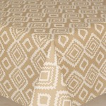 Acrylic Geo Beige - Acrylic Coated Table Cloth Range