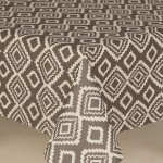 Acrylic Geo Grey - Acrylic Coated Table Cloth Range