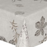 PVC Leaves Slate - Vinyl Table Cloth Range