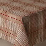 Acrylic Harbour Check Red - Acrylic Coated Table Cloth Range