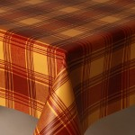 PVC Highland Terracotta - Vinyl Table Cloth Range