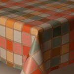 PVC Mosaic Check - Vinyl Table Cloth Range