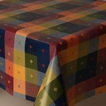 PVC Multi Check - Vinyl Table Cloth Range