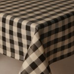 PVC Picnic Black - Vinyl Table Cloth Range
