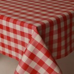 PVC Picnic Red - Vinyl Table Cloth Range