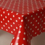 PVC Polka Red - Vinyl Table Cloth Range