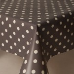 PVC Polka Slate - Vinyl Table Cloth Range