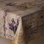 PVC Provence - Vinyl Table Cloth Range