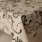 PVC Roma Black - Vinyl Table Cloth Range