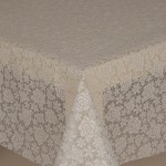 PVC Lace Roses White - Lace Table Cloth Range