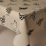 Acrylic Two Tone Chickens - Acrylic Coated Table Cloth Range