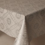 PVC Lace Print White - Vinyl Table Cloth Range