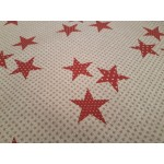 Acrylic Stars Red / Gold - Acrylic Coated Table Cloth Range