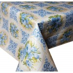 PVC Bouquet Blue - Vinyl Table Cloth Range