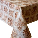 PVC Bouquet Brown - Vinyl Table Cloth Range