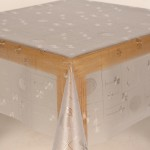 PVC Clear Embossed Dining - Clear Table Cloth Range