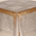 PVC Clear Embossed Rose - Clear Table Cloth Range