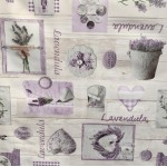 PVC Lavender Collection - Vinyl Table Cloth Range