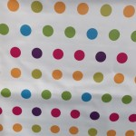 PVC Large Spot On White - Vinyl Table Cloth Range