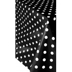 PVC Polka Black - Vinyl Table Cloth Range