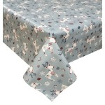 PVC Reindeer Blue - Vinyl Table Cloth Range