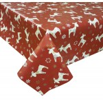 PVC Reindeer Red - Vinyl Table Cloth Range