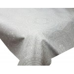 Acrylic Grey Spiro - Acrylic Coated Table Cloth Range