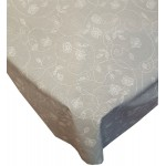 Acrylic White Stencil Leaf - Acrylic Coated Table Cloth Range